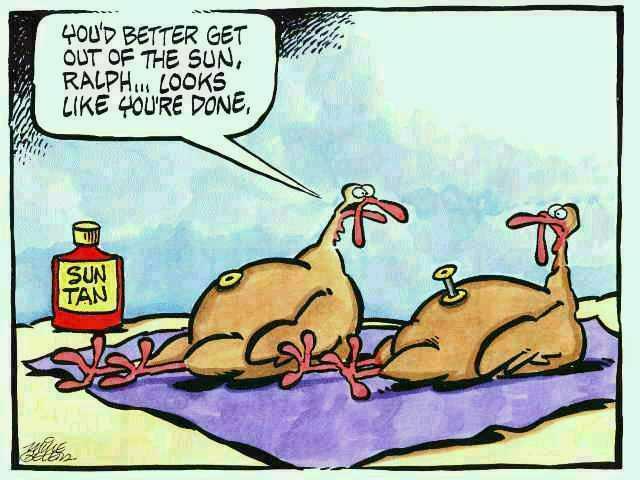 tanning turkey
